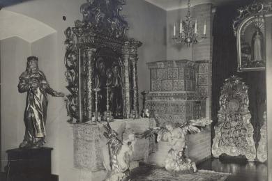 Expozícia cirkevných pamiatok na 3. poschodí veže Starej radnice otvorená v roku 1932