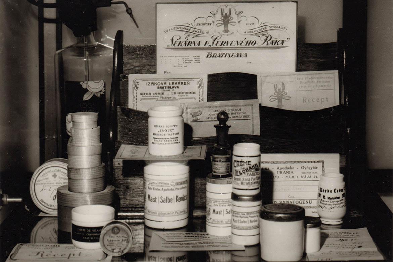 Expozícia Múzea farmácie v roku 1979