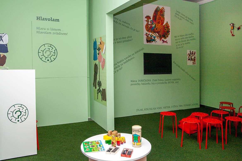 Interaktívna časť výstavy Ako sa hrali naši