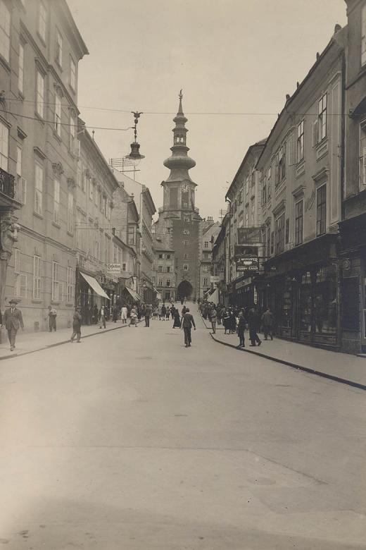 Michalská ulica s vežou, Hofer, 1925