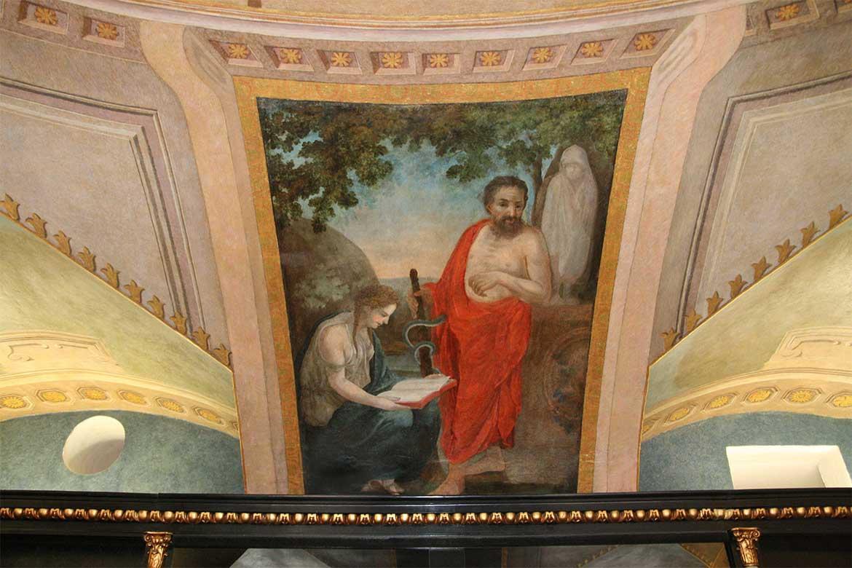Oficína, barokovo-klasicistická figurálna nástenná maľba