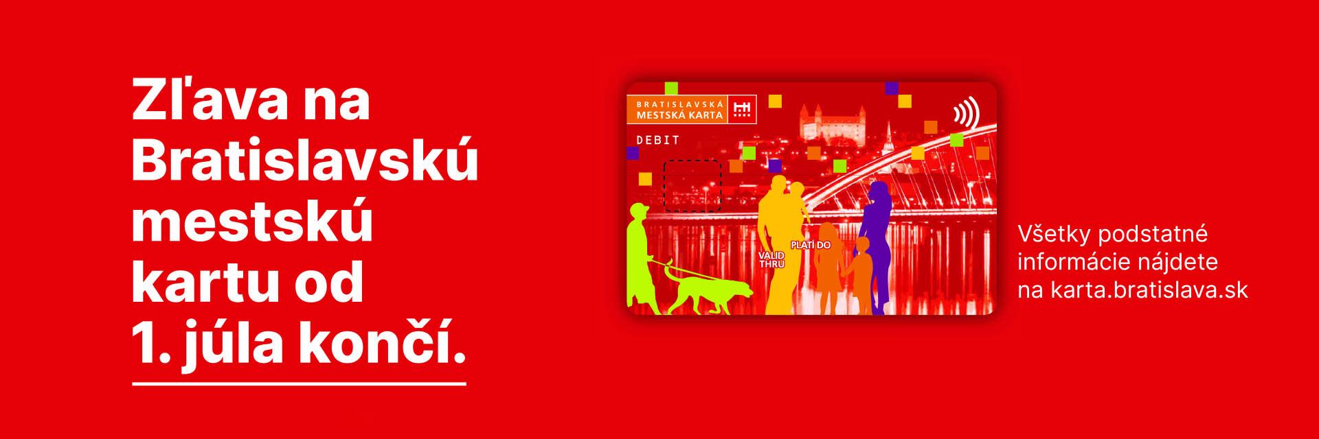 Bratislavská mestská karta končí platnosť